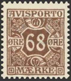 Sello: Avisporto (Dinamarca) (Newspaper Stamps) Mi:DK V7X,Sn:DK P7,Yt:DK J7,AFA:DK A7