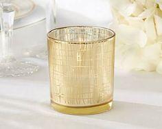 Kate Aspen Classic Gold Stripe Tealight Holder - 4 for $13ish