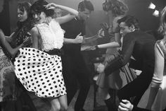 I love that dancers in 50s/60s photos are always dressed so smartly to rock out.
