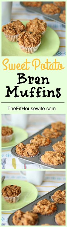 Sweet Potato Bran Muffins. A great recipe for breakfast or a snack on the go. Healthy too!