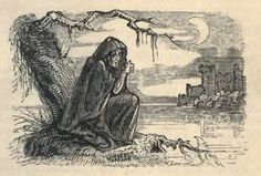 Banshee - is a female spirit in Irish mythology seen as an omen of death and a messenger from the underworld. She begins to wail if someone is about to die. バンシー、泣き妖怪(と、クリスタルドラゴンにあった気がする) World Mythology, Irish Mythology, Mythological Creatures, Mythical Creatures, Irish Halloween, Banshee Scream, Creepy Urban Legends, Scariest Monsters, Medieval