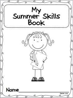 Kindergarten Summer Homework Calendars