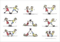 Bilderesultater for gymnastics partner balance activities Pe Activities, Gross Motor Activities, Movement Activities, Gross Motor Skills, Physical Activities, Partner Yoga, Partner Stretches, Yoga For Kids, Exercise For Kids