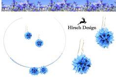 Ohrringe mit Kornblumen von Hirsch-Design auf DaWanda.com