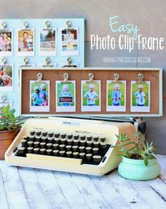 Snap a phone pic, print with the Instax SHARE printer, and clip to this easy DIY Frame. UNDER 10 Mins Diy Craft Projects, Diy Crafts To Sell, Craft Ideas, Sell Diy, Decor Crafts, Diy Ideas, Decor Ideas, Photo Projects, Project Ideas