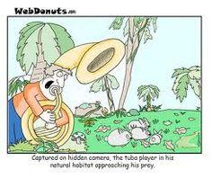 Visit the post for more. Sousaphone, Habitats, Nerd, Geek Stuff, Jokes, Cartoon, Comics, Funny, Music