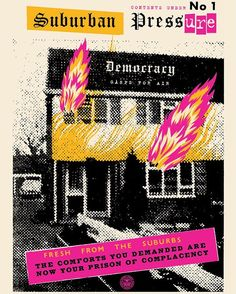 For Sale on - Suburban Pressure (Democracy) - Original Handsigned Screen Print, Screen Print by Jamie Reid & Shepard Fairey. Offered by Artfever Gallery. Graphic Design Posters, Graphic Design Illustration, Graphic Design Inspiration, Arte Punk, Punk Art, Design Bauhaus, Shepard Fairey Obey, Punk Poster, Street Art