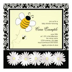 Bumble Bee Baby Shower Invitation Template 8 Get Everyone Talking