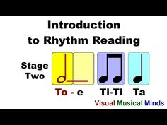 Intro to Reading Rhythms: Stage Two- Quarter, Half, and Eighth Notes Preschool Music, Music Activities, Teaching Music, Piano Lessons, Music Lessons, Music Beats, School Of Rock, Online Lessons, Elementary Music
