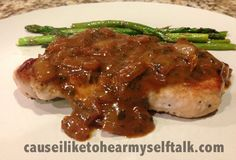 Primal Pork Chops with Dijon Mustard and Garlic Sauce Recipe (so good) #primal #recipes