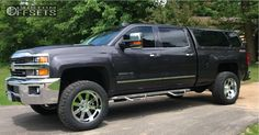 This 2015 Chevrolet Silverado 2500 HD is running Moto Metal wheels BFGoodrich All Terrain TA tires with Pro Comp Leveling Kit suspension. Chevrolet Silverado 2500, Silverado 1500, Gmc Sierra 2500hd, Pro Comp, Tyre Fitting, Wheels And Tires, Dream Cars, Chevy, Trucks