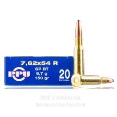 Prvi Partizan 7.62x54r Ammo - 20 Rounds of 150 Grain SPBT Ammunition #762x54r #762x54rAmmo #PrviPartizan #PrviPartizanAmmo #PrviPartizan762x54r #SPBTAmmo