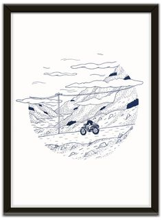 Ghost Mountain Pass - Giclée print by my friend Michael Tymbios (High Art Low Life) Digital Illustration, Graphic Illustration, Mountain Pass, Painting Collage, High Art, Illustrators, Giclee Print, How To Draw Hands, Doodles