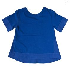 Da 2 anni a 12 anni maglia a maniche corte blu femmina capo fresco e confortevole - P/E 2016