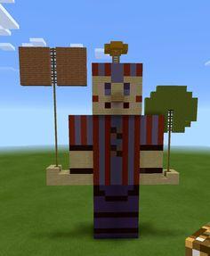 Balloon Boy statue on Minecraft!