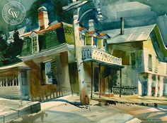 James Green - Light Post, California art, original California watercolor art for sale, fine art print for sale, giclee watercolor print - CaliforniaWatercolor.com