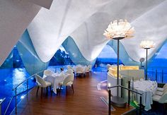 La Concha Hotel in San Juan, Puerto Rico...Resembles the shape of a shell... Beautiful