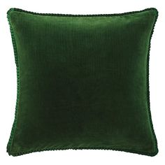 Larissa Pillow in Evergreen (Solid Pattern, decorative pillows) | Room Furnishing Accessories, Accent Pillows from Company C (New)