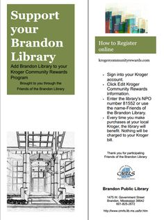 Bookmark from Brandon Public Library