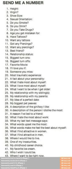 I'll answer them if you ask