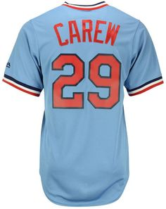 04e5bd9e569be Majestic Rod Carew Minnesota Twins Cooperstown Replica Jersey - Blue L.  Minnesota TwinsSports Fan Shop