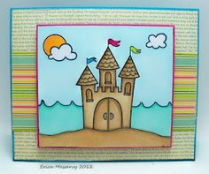 Lawnscaping Challenge #31 - Coloring - Totally Brilliant use of the #castle stamp by Erica! (Honorable Gnome)