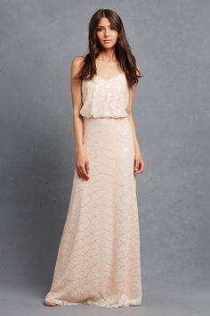 6123e4a169 Donna Morgan Serenity - Olivia Blush Sequin Bridesmaid Dress