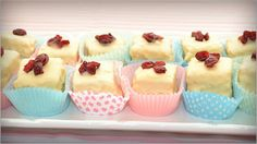 Raspberry White Chocolate Squares