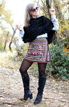 Skirt, Francesca's. Pantyhose Outfits, Black Pantyhose, Riding Boot Outfits, Sexy Women, Women Wear, Silver Grey Hair, Bond Girls, Elegant Woman, What I Wore
