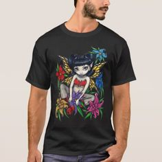 Fishnets And Flowers goth fairy Shirt - tap to personalize and get yours Monkey T Shirt, Pirate Shirts, Fishnet, Tshirt Colors, Shirt Style, Fitness Models, Shirt Designs, Monkey Island, Casual