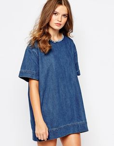 I can totally make this, get a pattern for a t-shirt dress and use denim