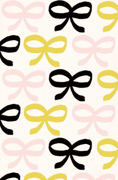 cute bows - this would be adorbs as an accent wall in a powder room or girl's room.