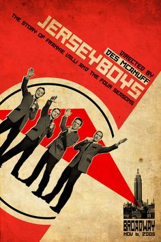 Russian Constructivism style poster design for a Broadway production - 'Jerseyboys'.