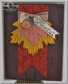 truly grateful, Stampin' Up!, Fall, Stamp-a-Stack