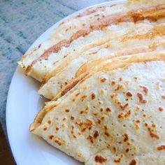 Asgoda pannkakor Utan vetemjöl...  Det är bara att mixa 1,5 dl havregryn, ha i 2 dl mjölk + ett ägg, bakpulver och salt så är det klart!
