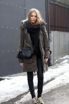 vanja-fashion-and-style-blog-winter-outfit-inspiration-winter-parka-adidas-by-stella-mccartney-sneakers-adizero-in-olive-green-gucci-disco-bag