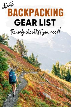 Choosing the right backpacking gear can be overwhelming, so we wrote this guide to help you out! We review all the essential backpacking equipment we take on every trip. It's the only backpacking checklist you need to get started! Hiking Gear, Camping Gear, Camping Hacks, Hiking Tips, Camping Equipment, Outdoor Camping, Hiking Checklist, Camping Hammock, Camping Recipes