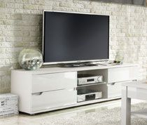 meuble tv blanc brillant design chivry sofamobili 13 - Meuble Tv Blanc Brillant But