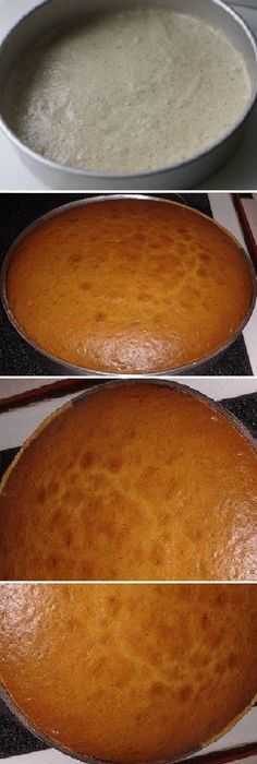 """TORTA DE 1 KILO """"MOLDE REDONDO 30 CM X 8 ALTURA"""" #vainilla #receta #recipe #casero #torta #tartas #pastel #nestlecocina #bizcocho #bizcochuelo #tasty #cocina #chocolate #pan #panes En un bols separar las yemas de la clara, batir las claras a punto de nieve y reservar. En el otro bols mezclar las 2 tazas de aceite y el..."""