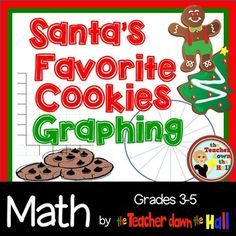 Let your students conduct a survey to determine what kind of cookie is most often left out on Christmas Eve.  Then students will graph the totals on either a bar graph or a pie graph.  Keep your students attention in math class even during those difficult days right before the holidays!**You may also like:Christmas Division w/ RemaindersEaster Math - Group ActivityValentine's Day Math - DecimalsValentine's Day Math - Division w/ RemaindersValentine's Day Math - Group ActivitySt.
