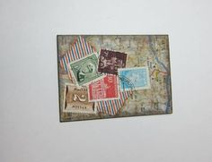 Map and Stamp ATC by LovelyMiss