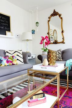 DIY Gold Ikea Nesting Tables