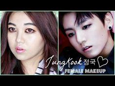 BTS JUNGKOOK 정국 - SICK Female Makeup Tutorial - YouTube