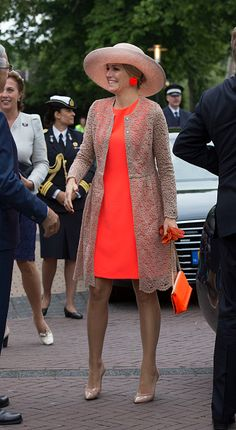 Queen Maxima of The Netherlands visits the community center during her regional tour of north west Friesland province on June 13, 2016 in Sint Annaparochie, Netherlands.