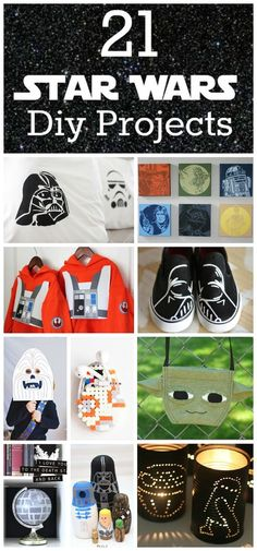 21 amazing Star Wars DIY projects & gift ideas youll love - Star Wars Shoes - Ideas of Star Wars Shoes - The ultimate collection of Star Wars DIY projects something in here for fans young and old and everywhere in between Star Wars Party, Theme Star Wars, Star Wars Birthday, Star Wars Crafts, Geek Crafts, Crafts For Kids, Easy Crafts, Diy Star, Star Wars Zimmer