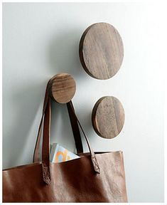 Shop set of 3 dot coat hooks. Reclaimed from old homes under renovation in northern India, sen wood comes full circle in eco installation. Aged up to 50 years, wood is sanded smooth to enhance varying tone, grain, knots and splits that make each unique. Modern Wall Hooks, Diy Wall Hooks, Decorative Wall Hooks, Modern Wall Decor, Wall Hanger, Contemporary Wall Hooks, Diy Hangers, Hanger Hooks, Coat Hanger