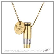 Gold Bullet Necklace⭐️last one⭐️ This gorgeous gold bullet necklace with its stripe of silver, is more beautiful in person, and can be worn with a tee, or dressed up!!  Most of all each item that is sold provides 7 meals for children in need!! Made in CA, USA! This is a cause that is close to my heart!! Buy this awesome necklace and know the good it is doing!!😊✌🏽️💖 Half United Jewelry Necklaces