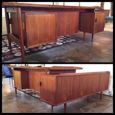 Arne Vodder for Sibast teak desk with return. More info? Email midmodcollective@gmail.com