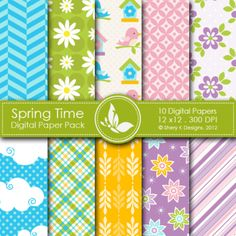 Spring Time Digital Papers