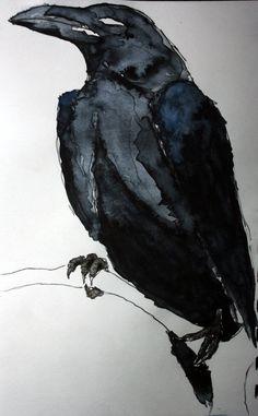 "Gorgeous Sumi Brush-work: ""Corvus"" by vodoc"